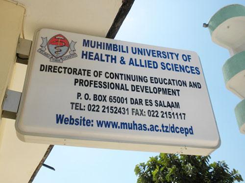 sign of Muhimbili University
