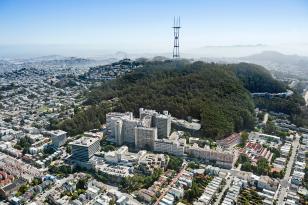 aerial view of UCSF Parnassus campus